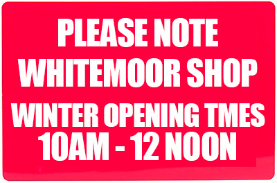 Whitemoor Shop - Winter Opening Times